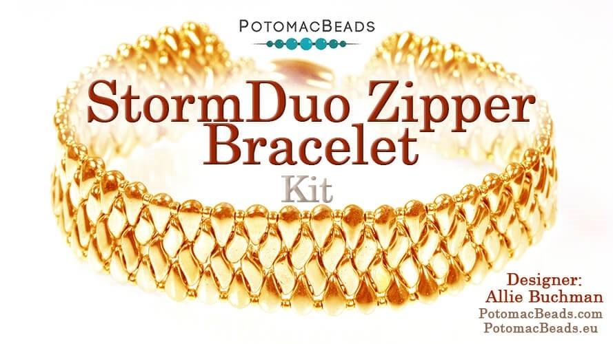 Pattern StormDuo Zipper Bracelet