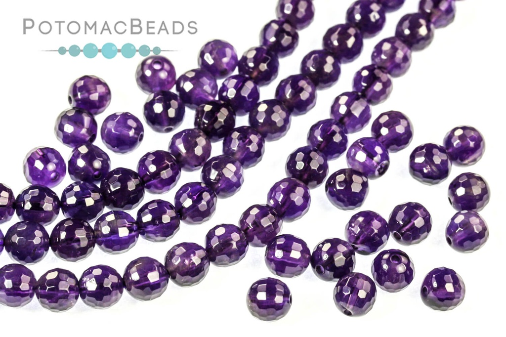 Natural Purple Amethyst faceted rondelles beads size 6-12mm sold per 16-inch strand GW158